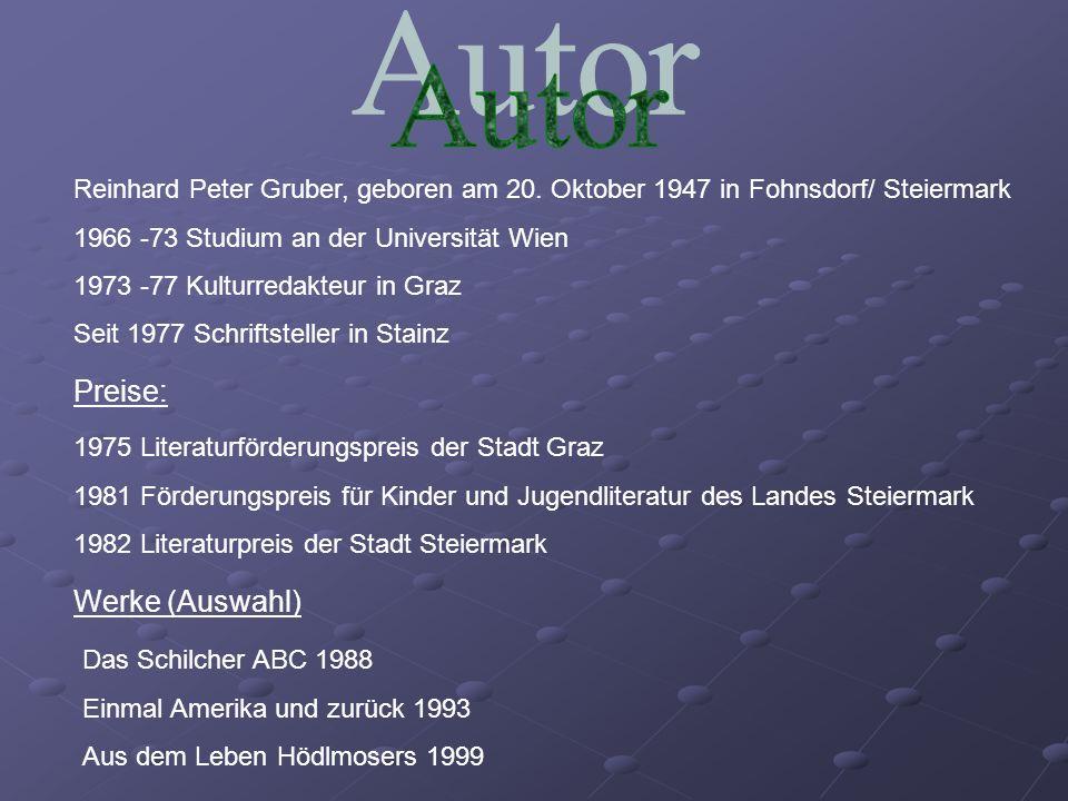 Autor Preise: Werke (Auswahl)