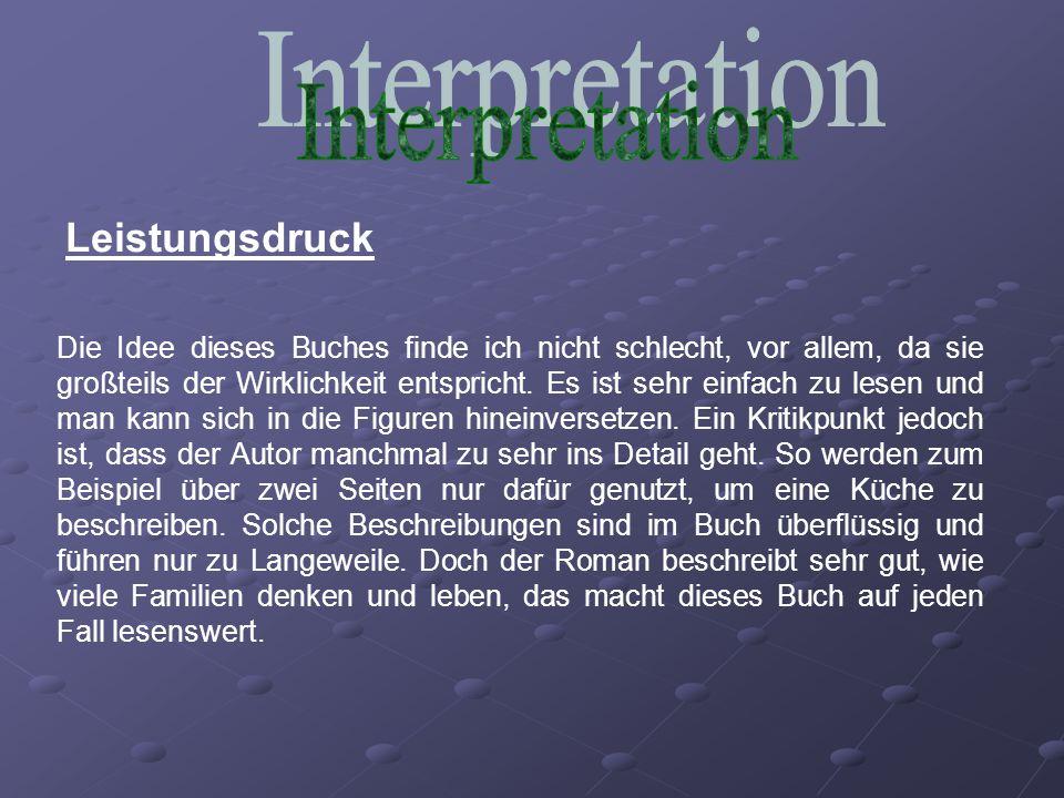 Interpretation Leistungsdruck