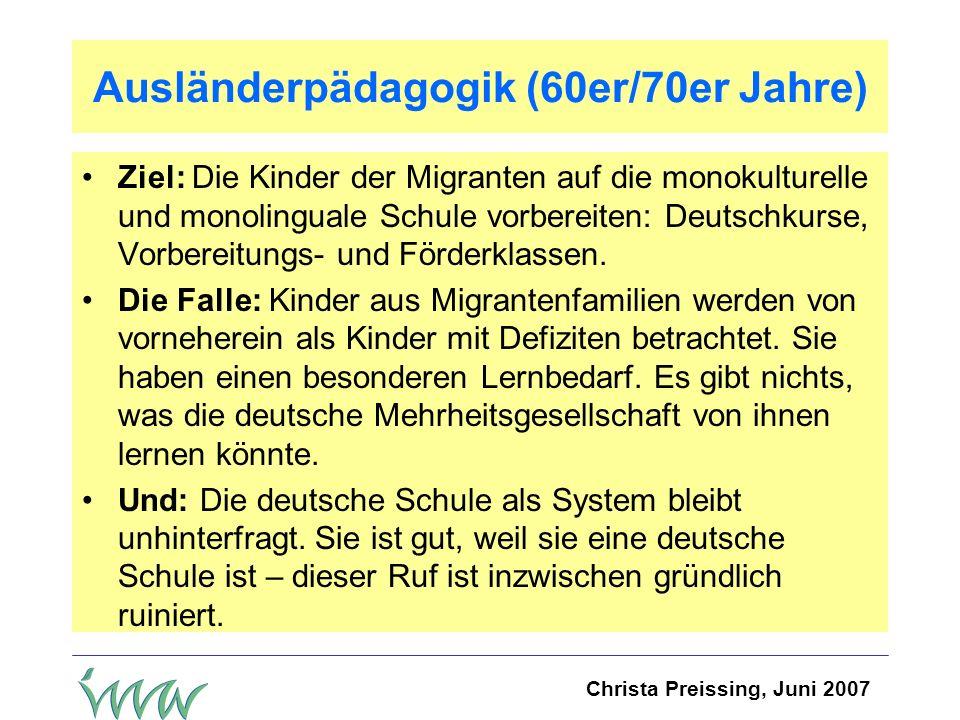 Ausländerpädagogik (60er/70er Jahre)