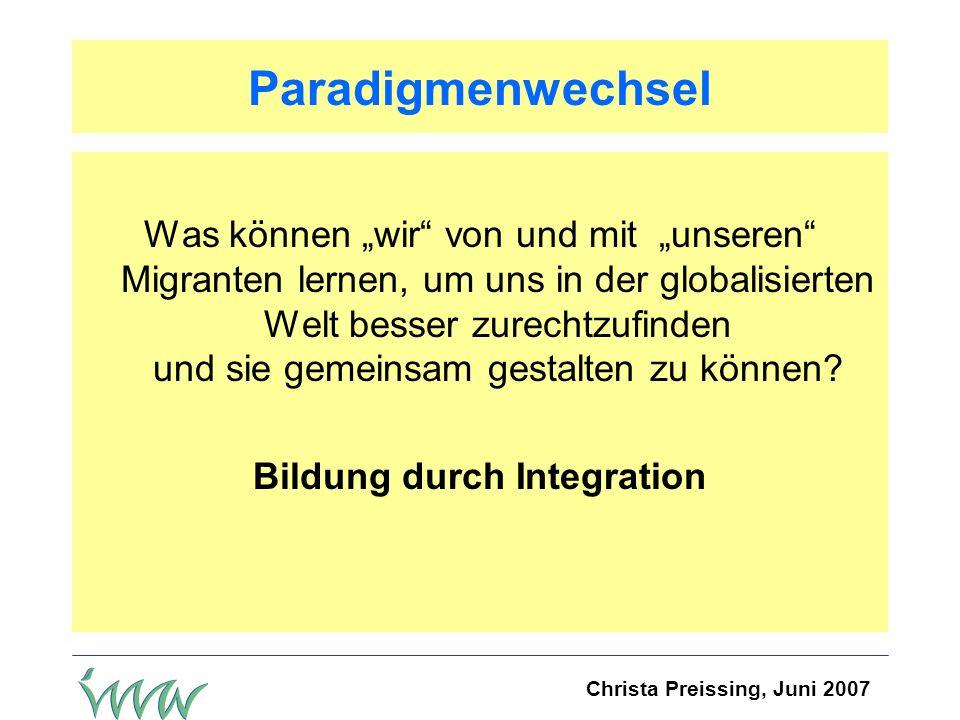 Bildung durch Integration