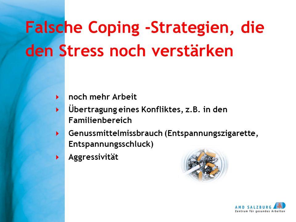 Falsche Coping -Strategien, die den Stress noch verstärken
