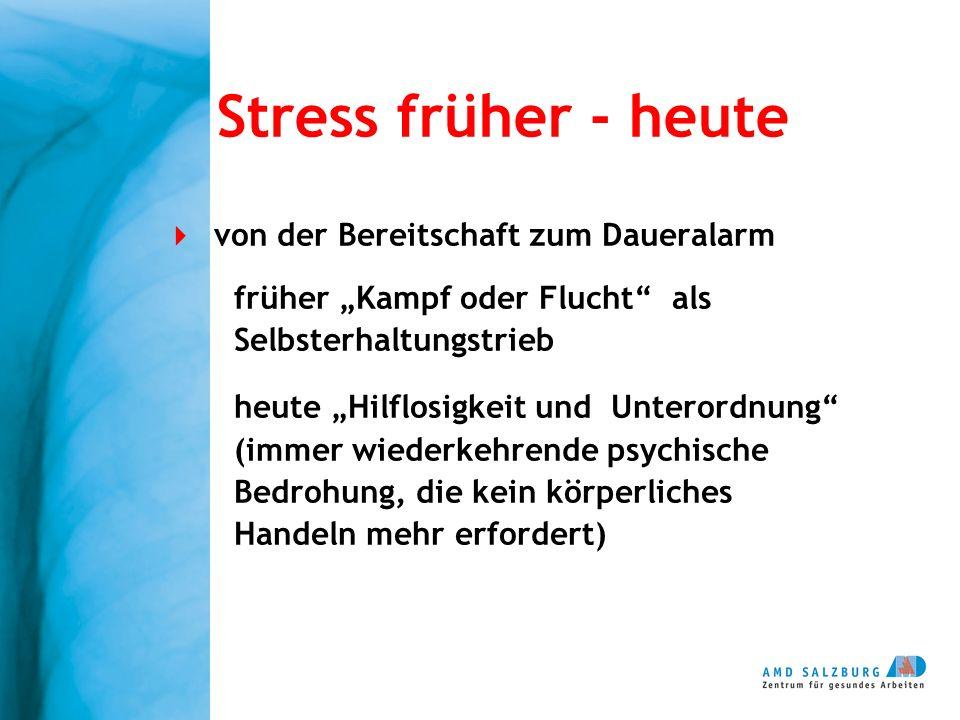 Stress früher - heute von der Bereitschaft zum Daueralarm