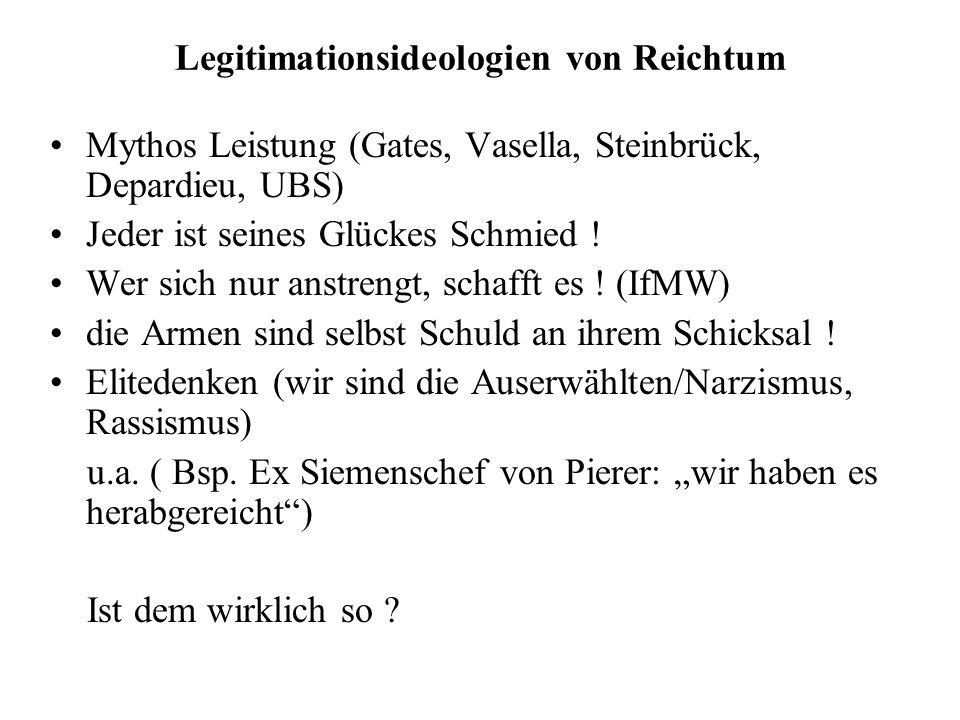 Legitimationsideologien von Reichtum