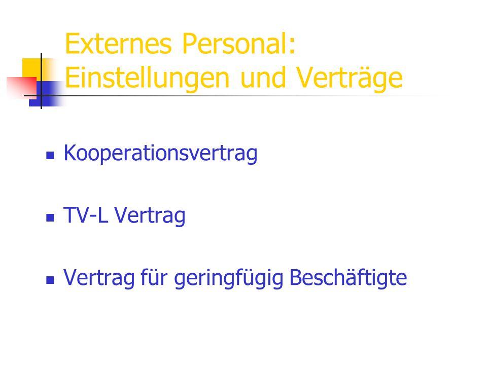 Externes Personal: Einstellungen und Verträge