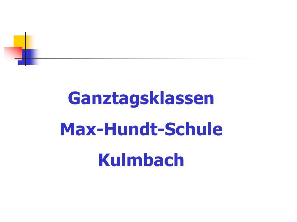 Ganztagsklassen Max-Hundt-Schule Kulmbach