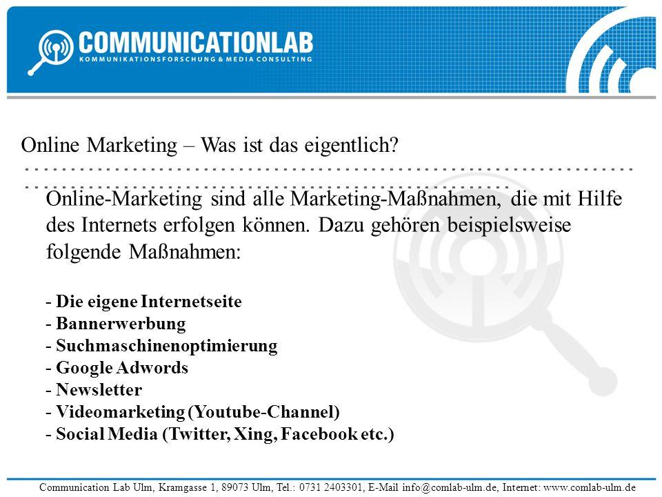Online Marketing – Was ist das eigentlich