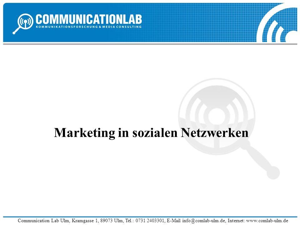 Marketing in sozialen Netzwerken