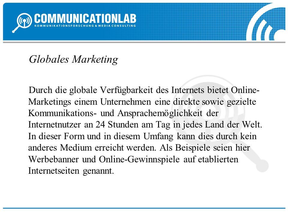 Globales Marketing