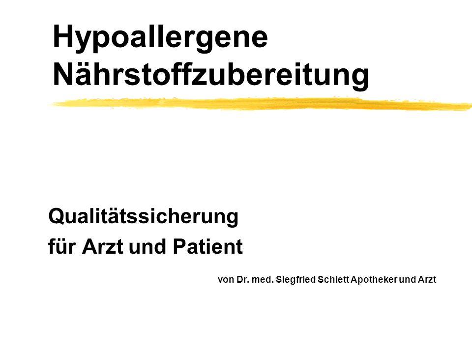 Hypoallergene Nährstoffzubereitung