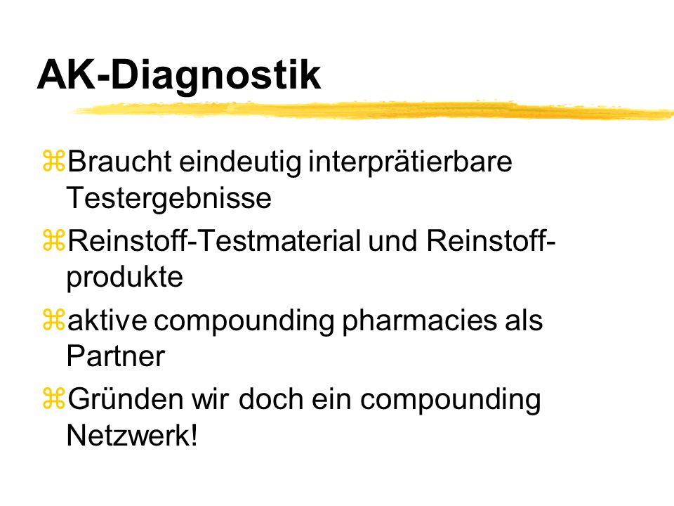 AK-Diagnostik Braucht eindeutig interprätierbare Testergebnisse