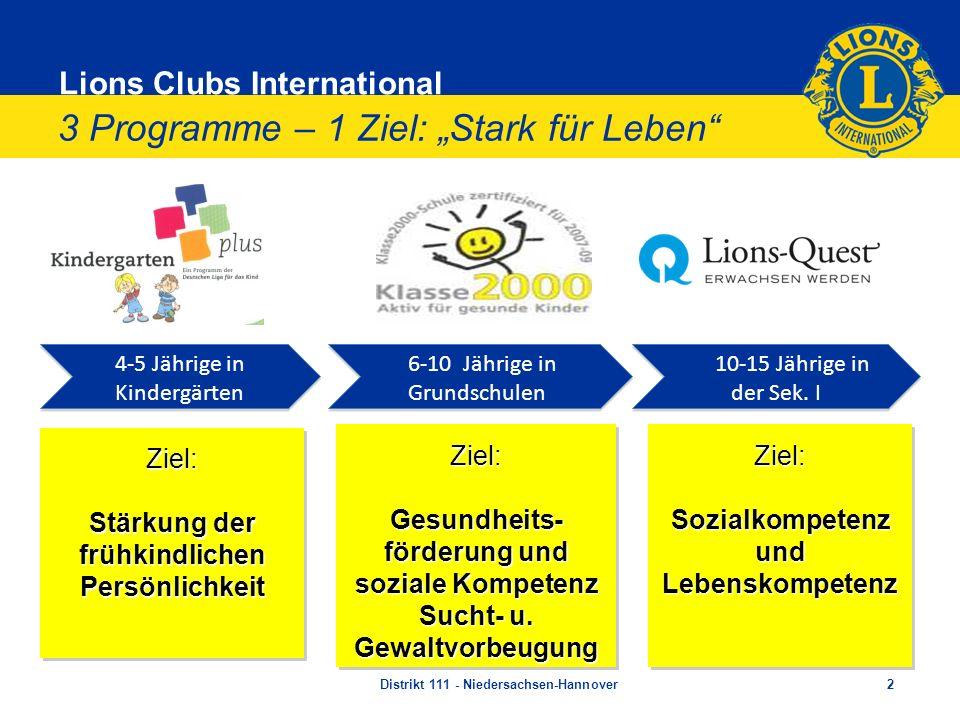 """3 Programme – 1 Ziel: """"Stark für Leben"""