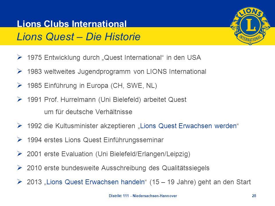 Lions Quest – Die Historie