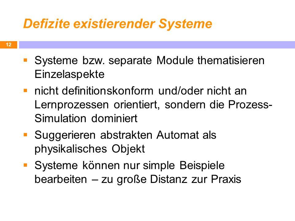 Defizite existierender Systeme