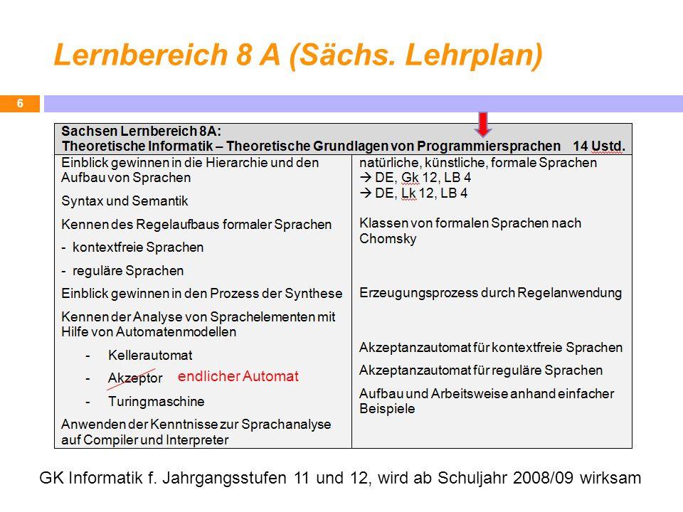 Lernbereich 8 A (Sächs. Lehrplan)