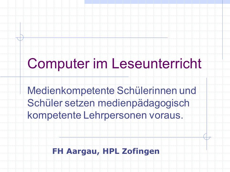 Computer im Leseunterricht