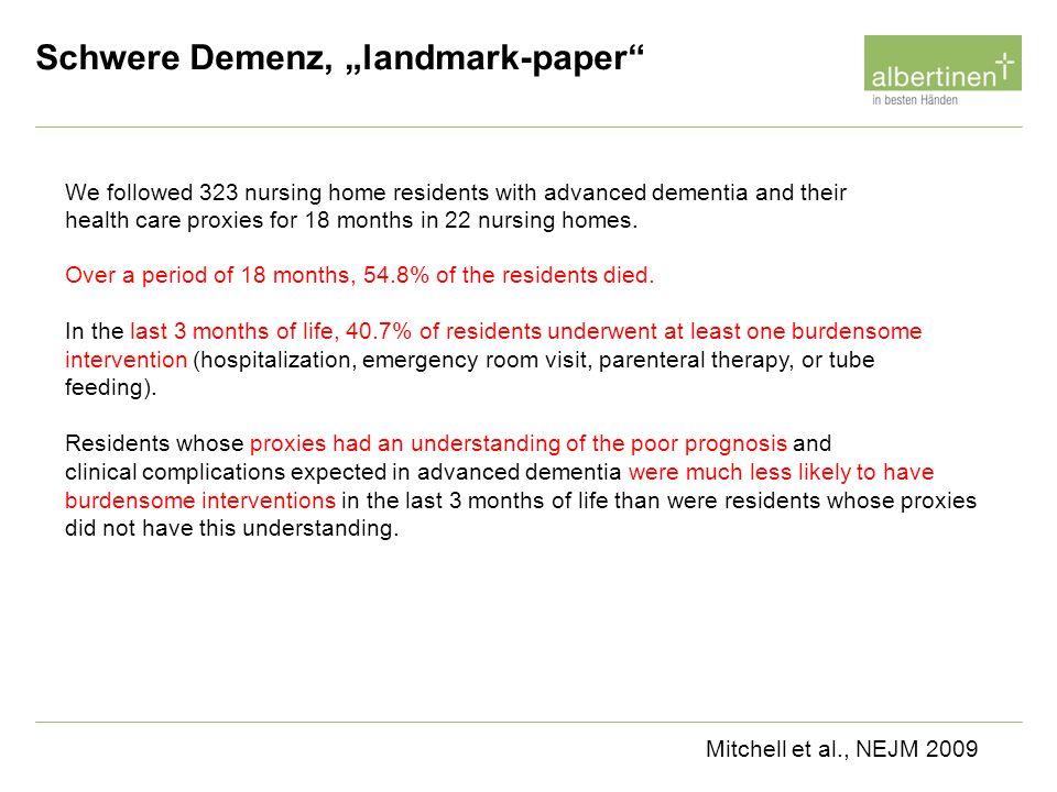 "Schwere Demenz, ""landmark-paper"