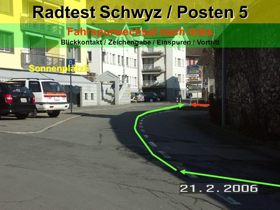 Radtest Schwyz / Posten 5