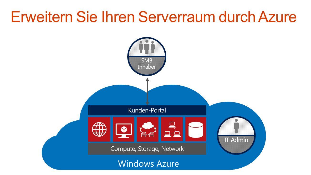 Erweitern Sie Ihren Serverraum durch Azure