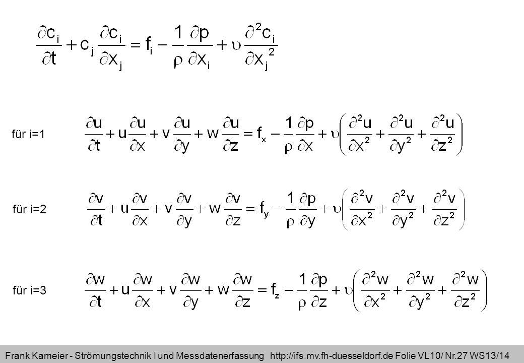 für i=1 für i=2 für i=3