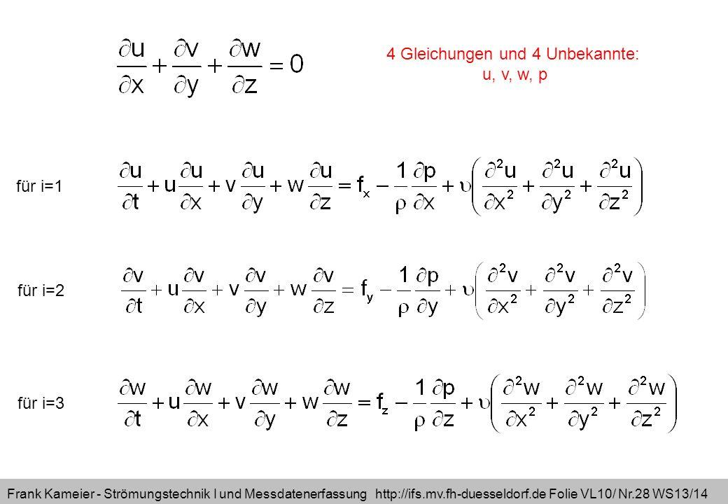 4 Gleichungen und 4 Unbekannte: