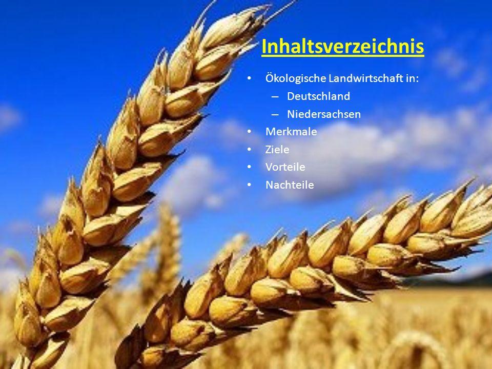 Inhaltsverzeichnis Ökologische Landwirtschaft in: Deutschland