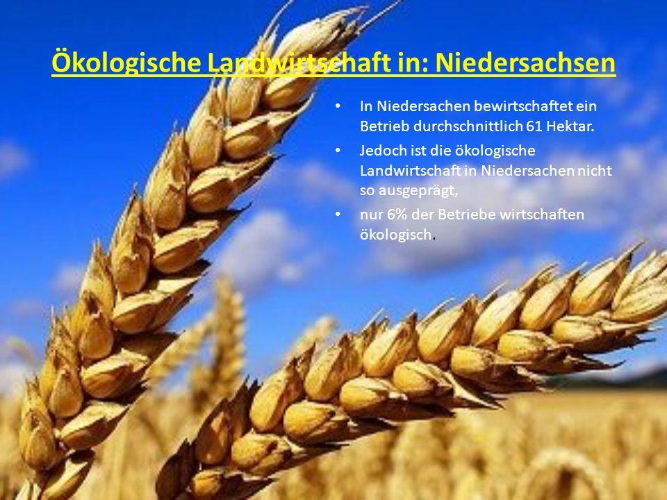 Ökologische Landwirtschaft in: Niedersachsen