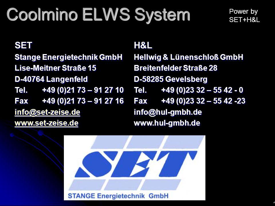 Coolmino ELWS System SET H&L . Stange Energietechnik GmbH