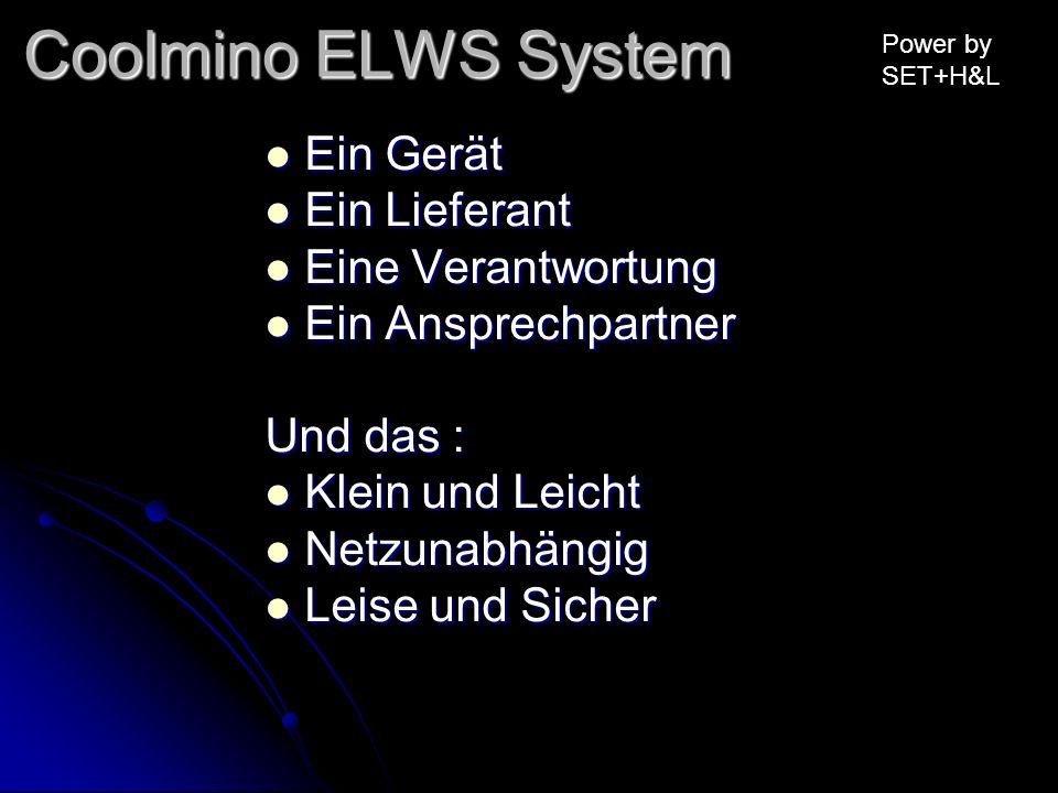 Coolmino ELWS System Ein Gerät Ein Lieferant Eine Verantwortung