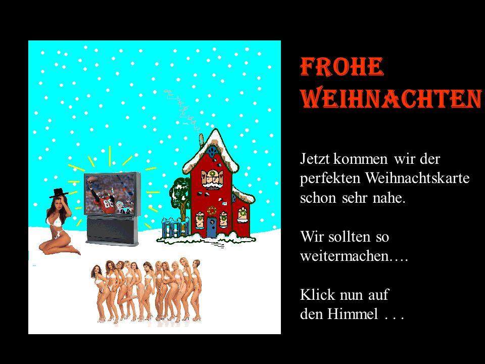 Frohe Weihnachten Jetzt kommen wir der perfekten Weihnachtskarte