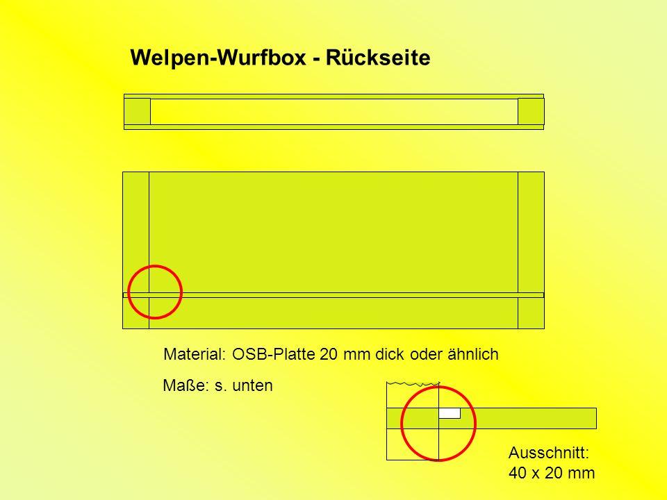 Welpen-Wurfbox - Rückseite