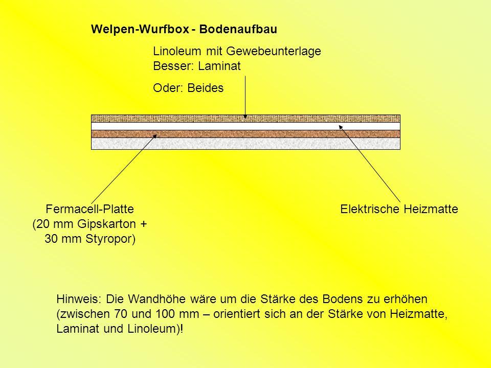 Welpen-Wurfbox - Bodenaufbau