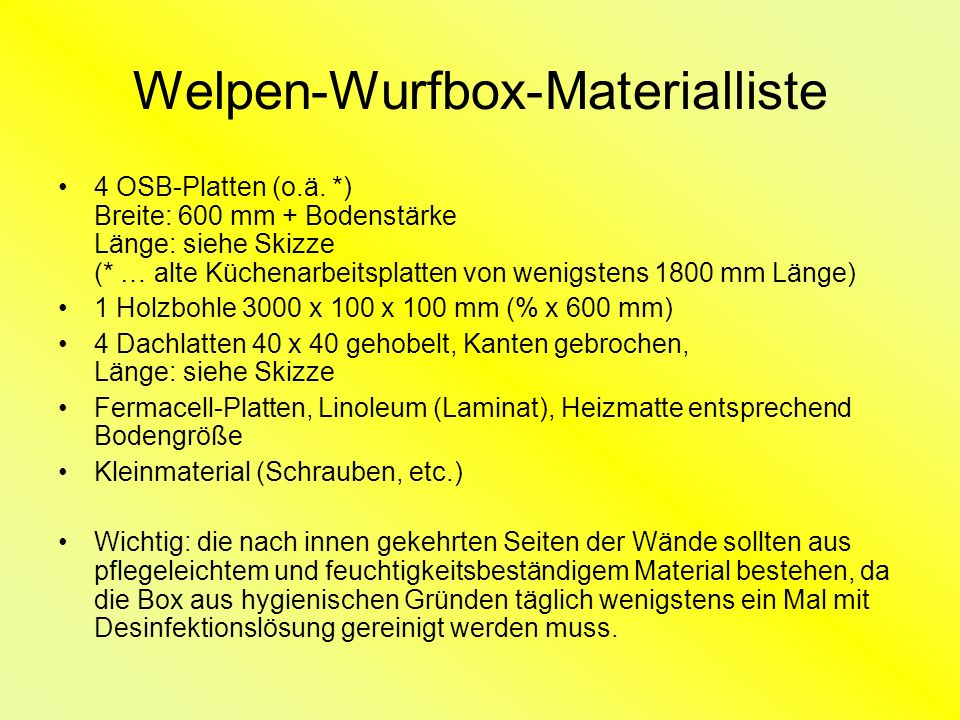 bauanleitung welpen wurfbox ppt video online herunterladen. Black Bedroom Furniture Sets. Home Design Ideas
