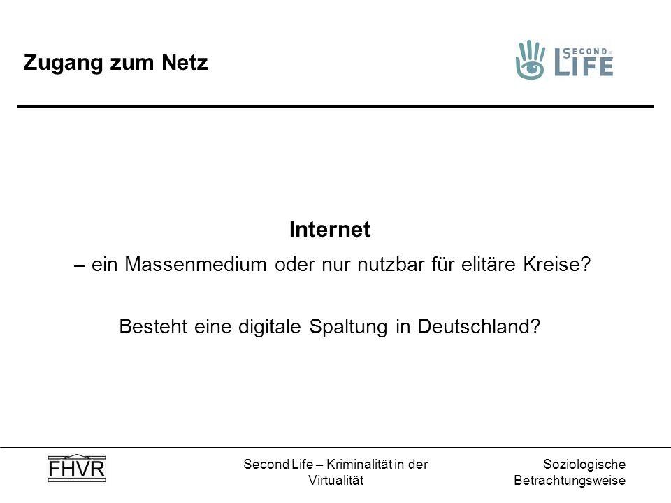 Zugang zum Netz Internet