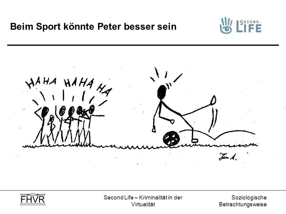 Beim Sport könnte Peter besser sein