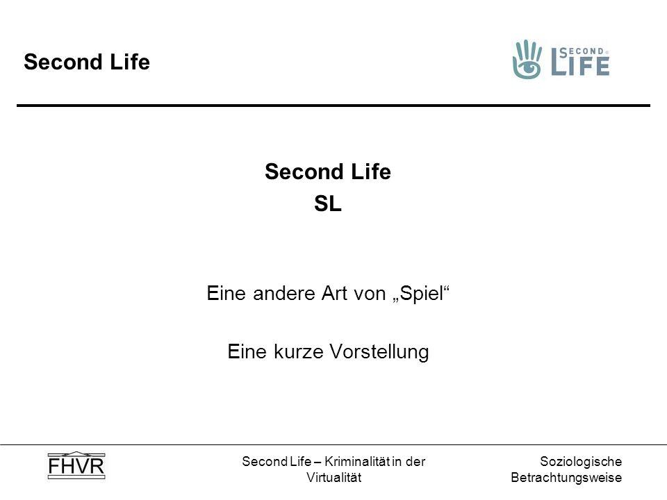 """Second Life Second Life SL Eine andere Art von """"Spiel"""