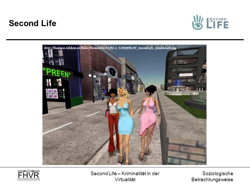 Second Life – Kriminalität in der Virtualität