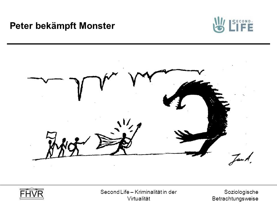 Peter bekämpft Monster