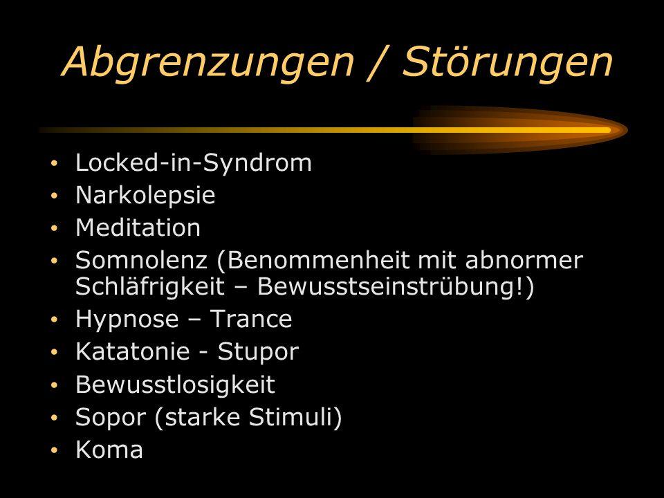 Abgrenzungen / Störungen