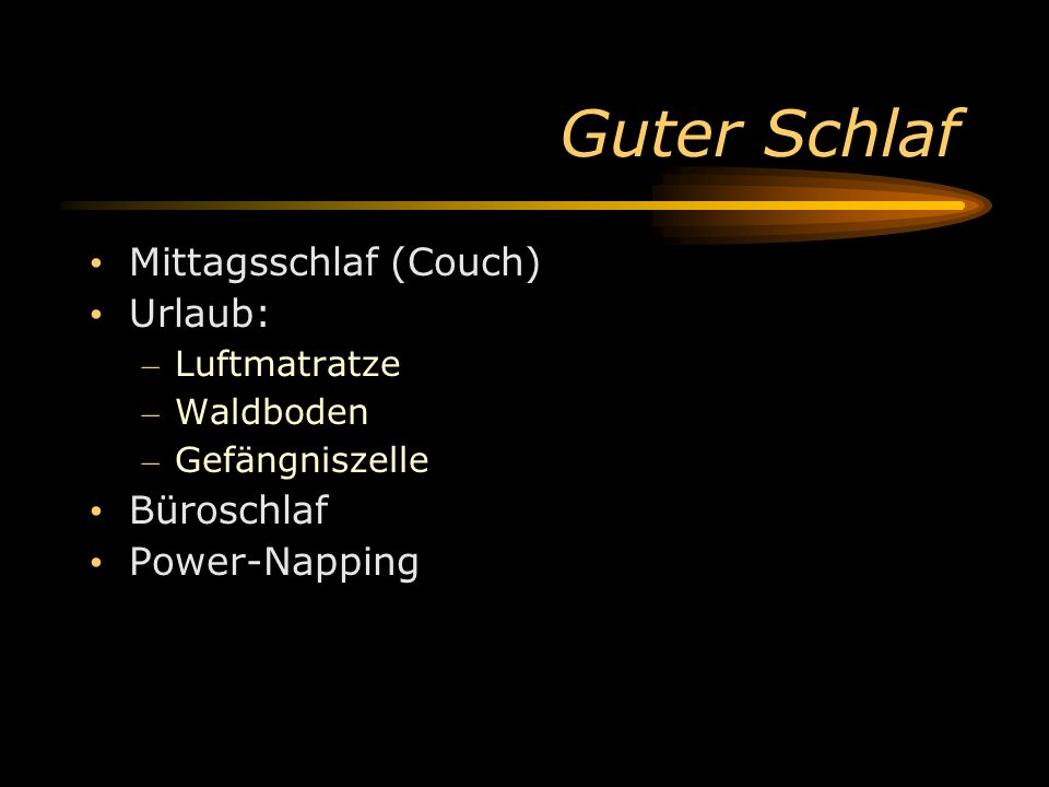 Guter Schlaf Mittagsschlaf (Couch) Urlaub: Büroschlaf Power-Napping