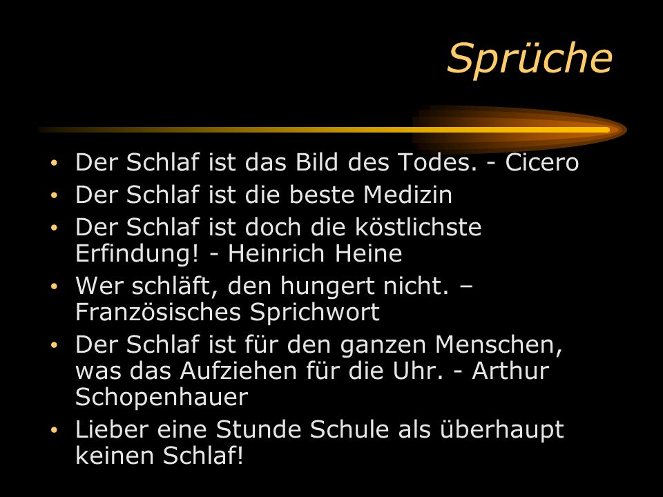 Sprüche Der Schlaf ist das Bild des Todes. - Cicero