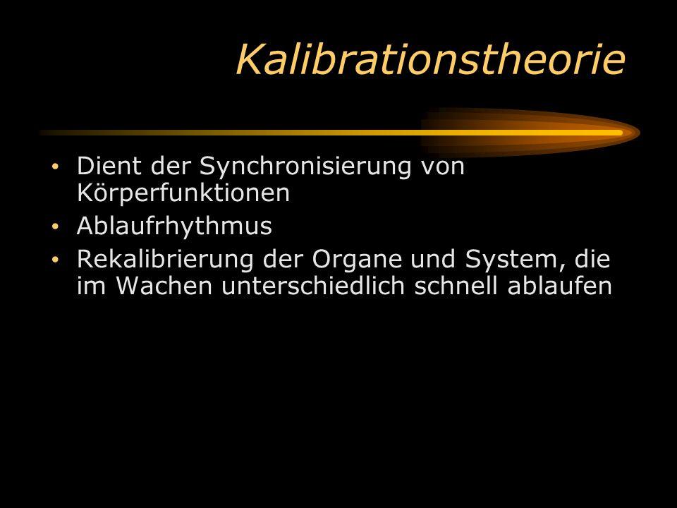 Kalibrationstheorie Dient der Synchronisierung von Körperfunktionen