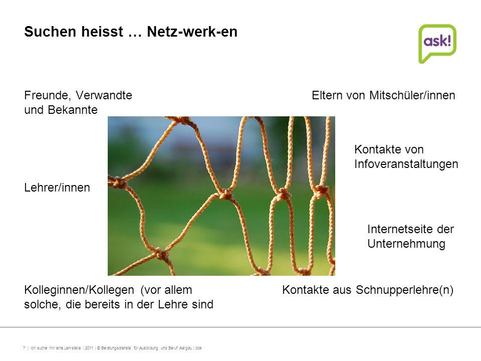 Suchen heisst … Netz-werk-en
