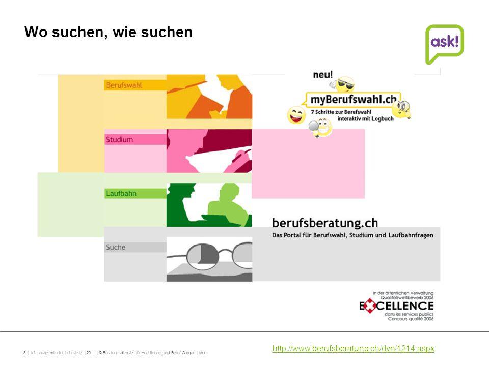 Wo suchen, wie suchen http://www.berufsberatung.ch/dyn/1214.aspx