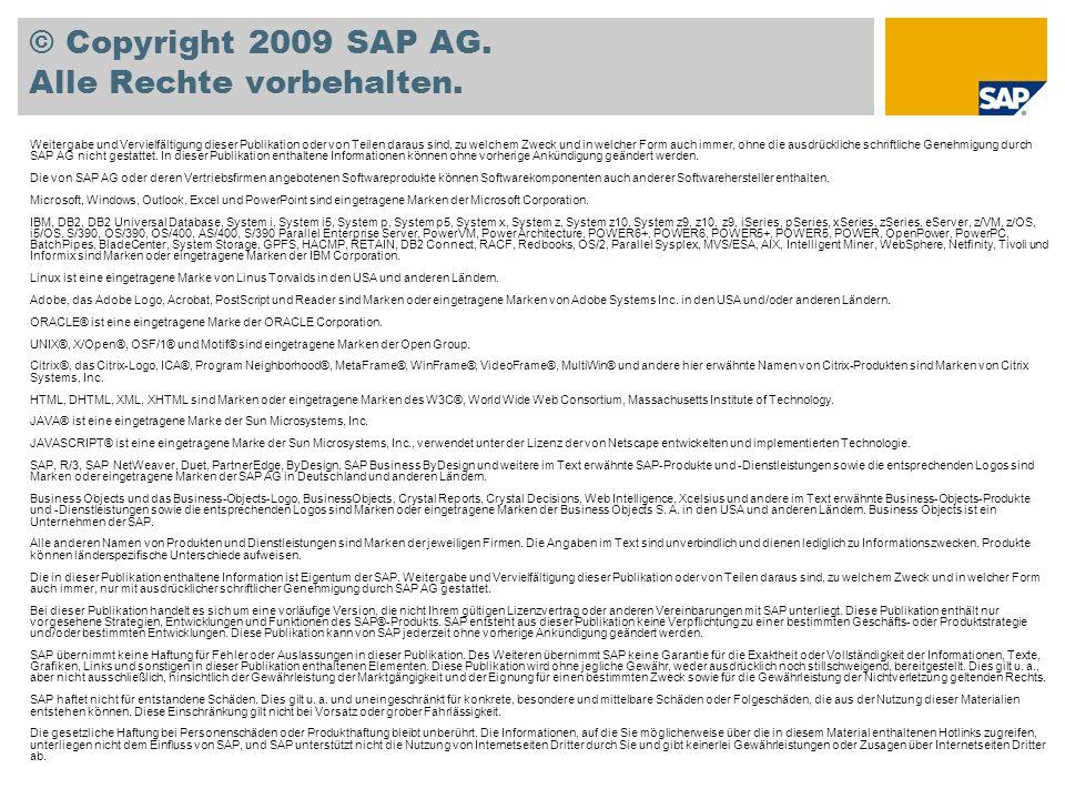 © Copyright 2009 SAP AG. Alle Rechte vorbehalten.
