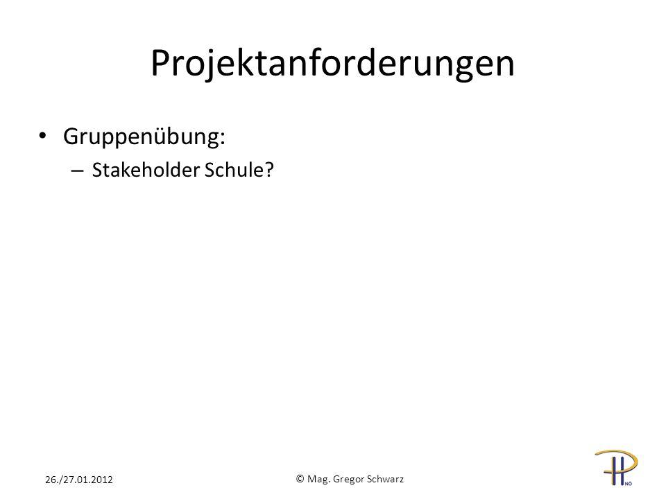 Projektanforderungen