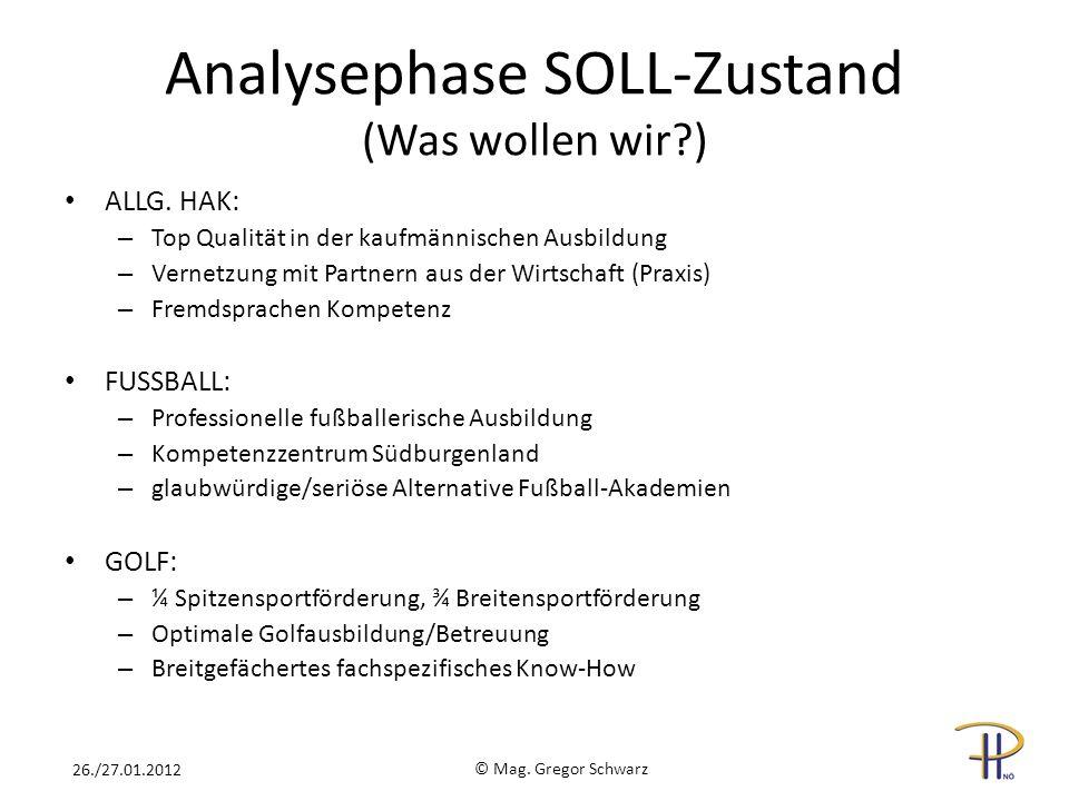 Analysephase SOLL-Zustand (Was wollen wir )