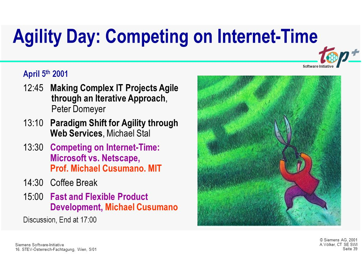 Agility Day: Competing on Internet-Time