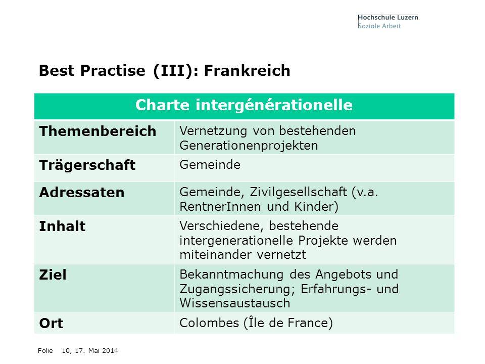 Best Practise (III): Frankreich