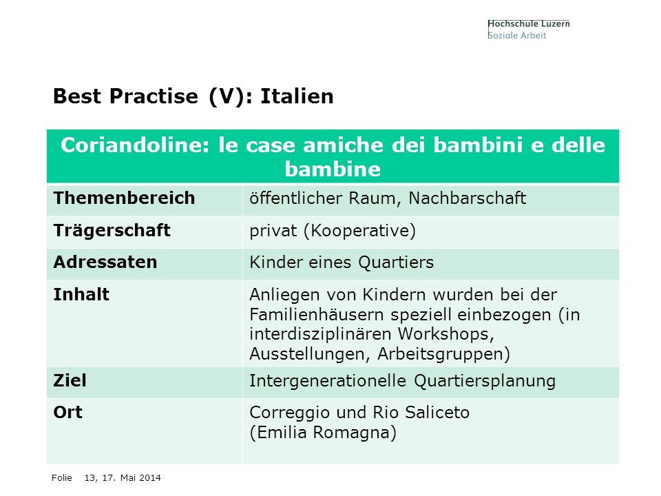 Best Practise (V): Italien
