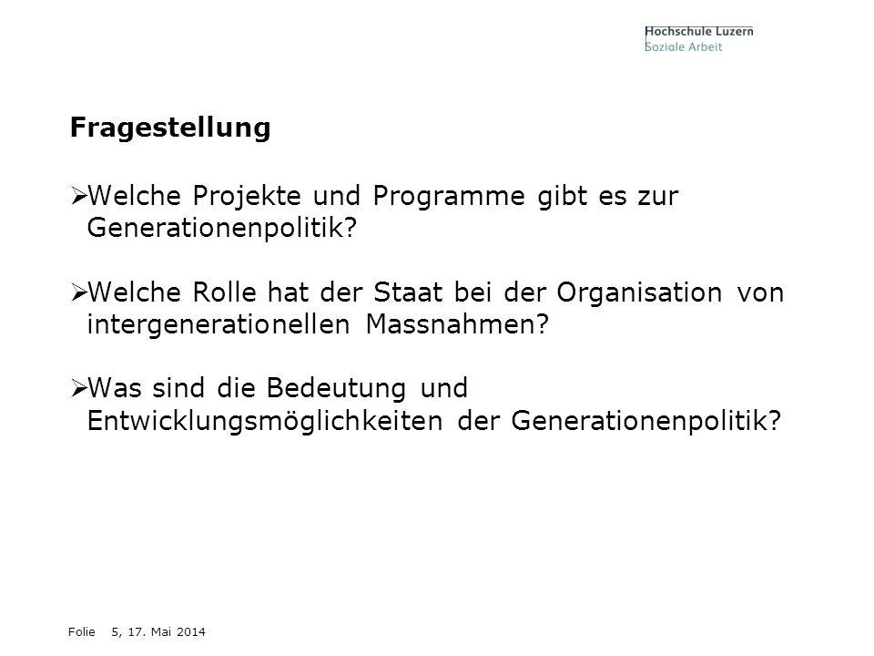 Welche Projekte und Programme gibt es zur Generationenpolitik